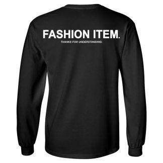 FASHION ITEM LS   BLACK - Back