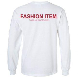 FASHION ITEM LS   Red - Back